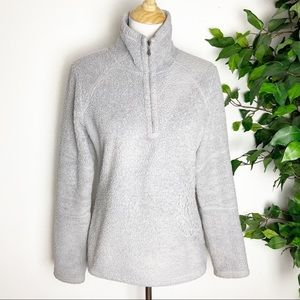 Athleta Sherpa 1/2 zip floral pullover sweater M